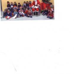photo du Père Noël avec les classes maternelles